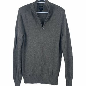 J. Crew Slim Fit 1/4 Zip Med Sweater Elbow Patches